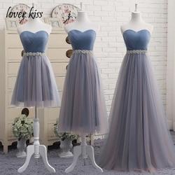 Amante beijo vestidos de dama de honra de casamento 2018 bruidsmeisjes jurken nupcial vestido de baile mais vestidos de dama de honra longo vestido de festa