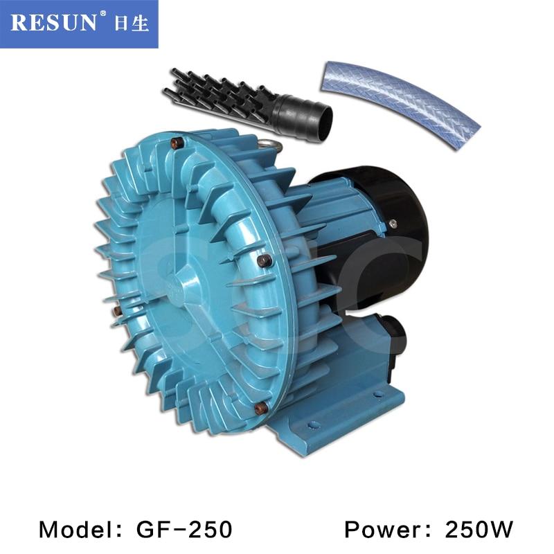250w 450l/min Resun Gf-250 High Pressure Electric Turbo Air Blower Aquarium Seafood Air Compressor Koi Pond Air Aerator Pump Careful Calculation And Strict Budgeting Pet Products