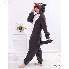 784065113fc6d Huit UP noir loup Onesies unisexe pyjamas adultes pyjamas Kigurumi Onesie  Cosplay Costume vêtements de nuit