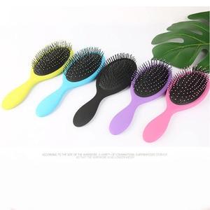 Image 5 - Hair Comb Brush Salon New Detangling Kids Gentle Women men Combs Tangle Wet & Dry Bristles handle Tangle Detangling Comb