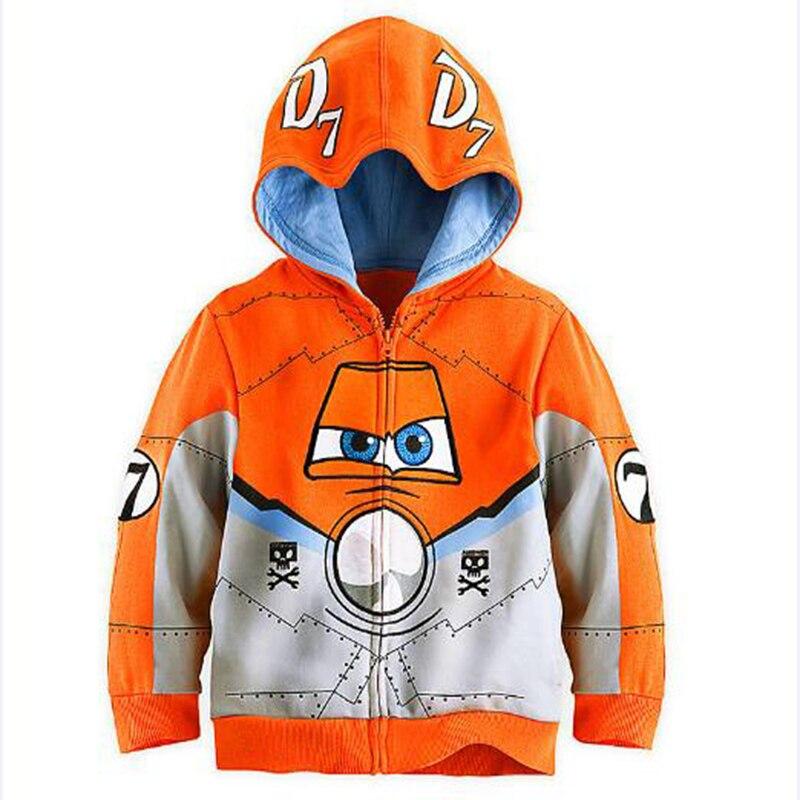 Niños Niñas niños dibujos animados Zip Sport Hoody Top Camisetas Bebé niños avión héroe sudadera camiseta con capucha ropa de abrigo para niños