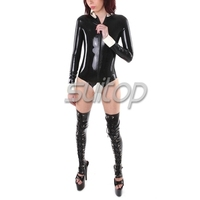 Suitop латексный комбинезон Натуральная Резина латексный купальник резиновый боди костюм для женщин
