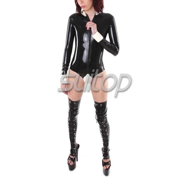 Buy Suitop  latex catsuit NATURE RUBBER latex leotard rubber body suit women