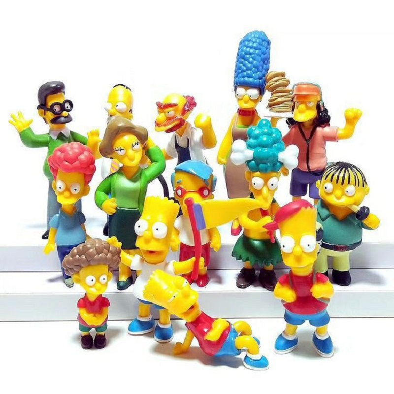 14pcs Set Simpsons Action Figures Toys PVC 6 12CM Collectors Home Car Office Decoration Gift in Action Toy Figures from Toys Hobbies