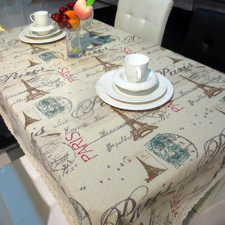 New Arrival Eiffel Tower Table Cloth Fashion Paris Cat