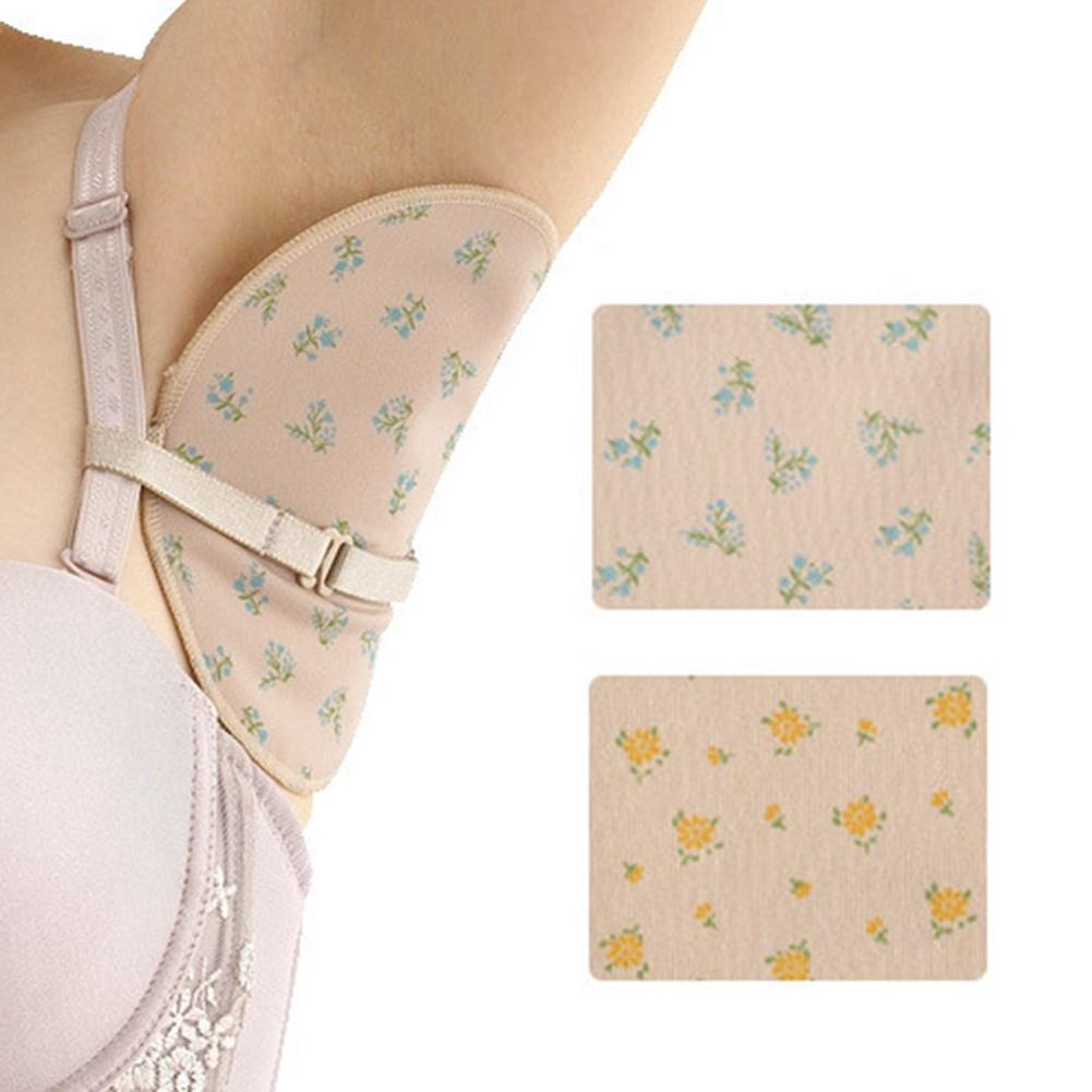 2 Pcs/pair Reusable Armpit Sweat Pads Women Men Washable Underarm Armpit Absorbent Pads For Summer Clothing Gaskets