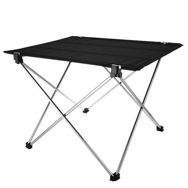 Tavolo Da Campeggio Alluminio.Tessuto Oxford Portatile Tavolo Da Campeggio All Aperto In Lega Di