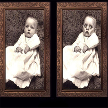 3D Ghost Photo Frame Horror Pictures Frames Changing Face Ghost Halloween Party Decor Halloween Decoration Props