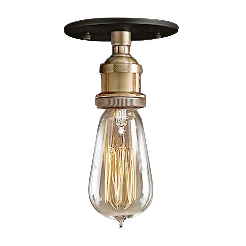 Modern Vintage Retro Industrial Edison short Metal head Glass Shade Ceiling Pendant Light Fixture With bulb