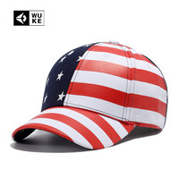 WUKE NEW American Flag Baseball Cap For Men Couple Cap High Grade Bone Snapback Hip