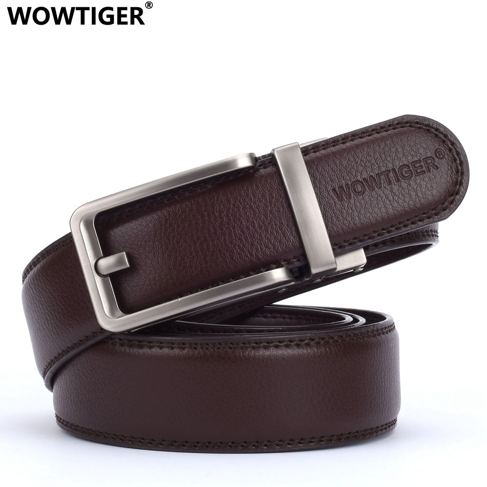 WOWTIGER Designers Men Automatic Buckle Leather Luxury Belts Male Alloy Buckle Belts For Men Ceinture Homme Cinto Masculino