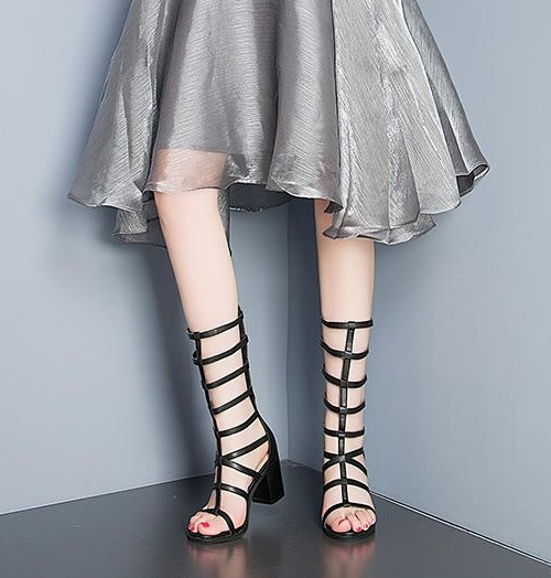 De Mince As Zapatos Sangle D'été Sandales Rome En Cheville Mujer Cuir Pour Noir Femmes Femme Pic Verni Dames drxCEqwra
