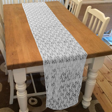 table runner 10pcslot white lace table runnerlace chair sash bow banquet wedding