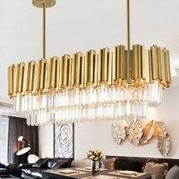 Dikdörtgen kristal kolye lamba Çin livingroom yatak odası lamba basit modern restoran bar yaratıcı kişilik kolye ışık