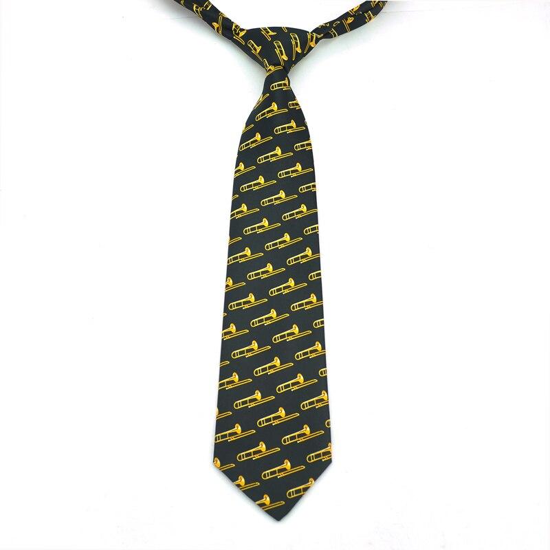 Мужские галстуки Галстук Формальное платье подарок свадебные рубашки галстук 3,5 дюймов музыка Труба Корнет тромбон туба Дизайн Классические Вечерние топы