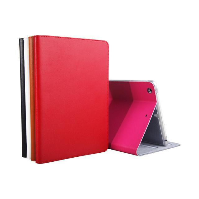 Luxury Folding Genuine Leather+Plastic Shell Smart Case Stand Cover For Apple iPad mini 1 2 3 With Retina high tech and fashion electric product shell plastic mold