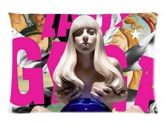 Custom Singer Lady Gaga Soft Fashion Style Cotton Linen Decorative Suitbale Single Pillow Case Size 40x60cm(Twin Sides) U06-44