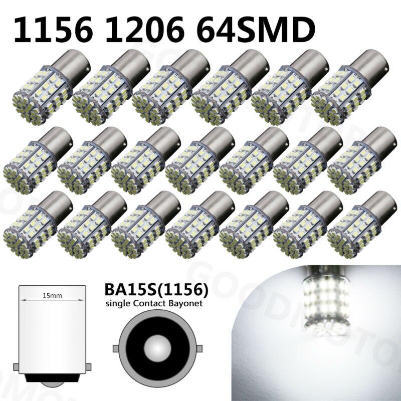 1156 led light BA15S Car LED 3014smd 1156 64 LED Tail Lights/ Turn Signal Lamp/ Corner bulb 1156 ba15s p21w 2 3w 13 led 5050 smd led red light car turn brake tail reversing light