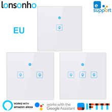 Lonsonho EU Wifi Switch Smart Wireless Light Touch Wall Switches Works With Google Home Mini Alexa IFTTT eWeLink