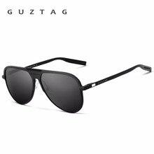 GUZTAG 브랜드 Unisex 클래식 남성 알루미늄 프레임 선글라스 편광 된 UV400 미러 남성 태양 안경 여성 남성 G9828