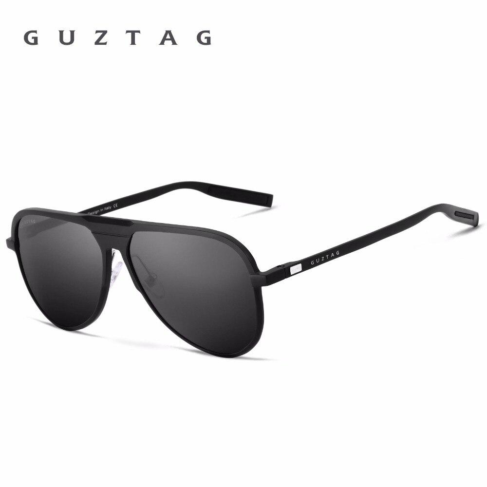 GUZTAG Unissex Marca Clássico Homens Óculos Moldura de Alumínio HD Polarized UV400 Espelho Masculino Óculos de Sol Das Mulheres Para Os Homens G9828