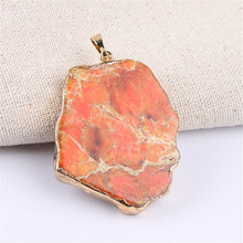 Druza Emperor Stone Pendant DIY Necklace Druzy Quartz Natural Fahion Jewelry 4 colors