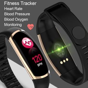 Smart Armband R16 Männer Frauen Herz Rate Uhr Schlafen Monitor Blutdruck Fitness Tracker Android IOS Farbe Nachricht Sport Band