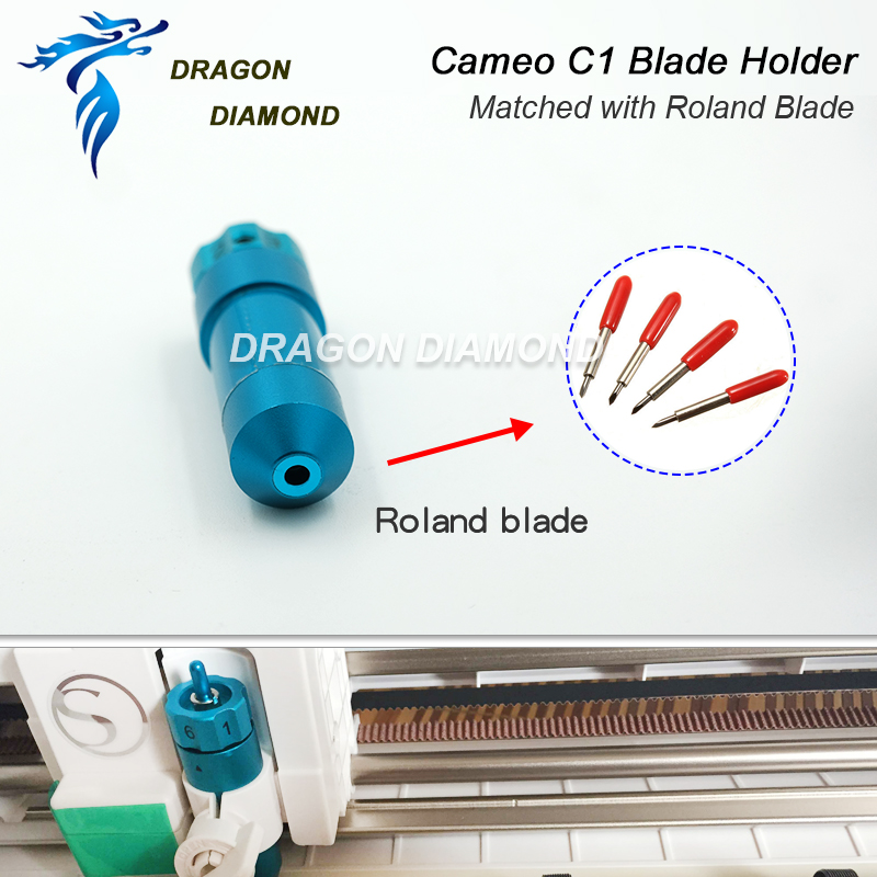 Image 4 - 1pcs For Silhouette Cameo Roland blade Holder Cutter C1 Matched for Cutting plotter Suitable 30/45/60 Degree Roland Cutter-in Milling Cutter from Tools