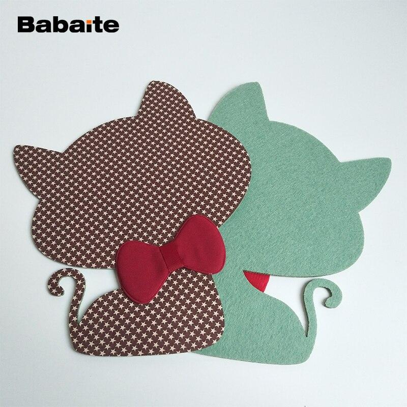 Babaite Творческий Кот коврик для мыши точность Вышивание Вязание одеяло коврики домашнего офиса искусственная кожа наручные коврик для мыши