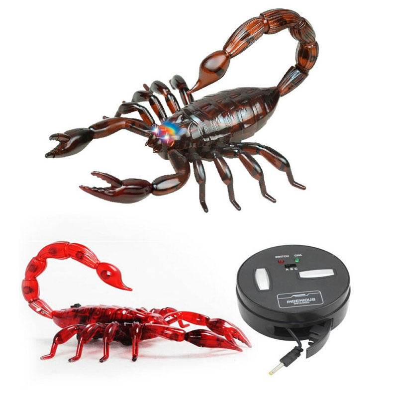 RC Electric Scorpion Remote Control Smart Animal Model RC Simulation Scorpion Robotic Radio Insect Prank Toys