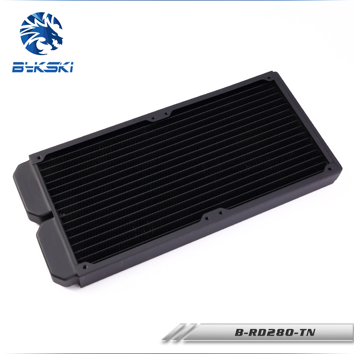 Bykski B RD280 TN Black 28mm thickness 280mm copper radiator for 14cm fan watercooler heat sinks