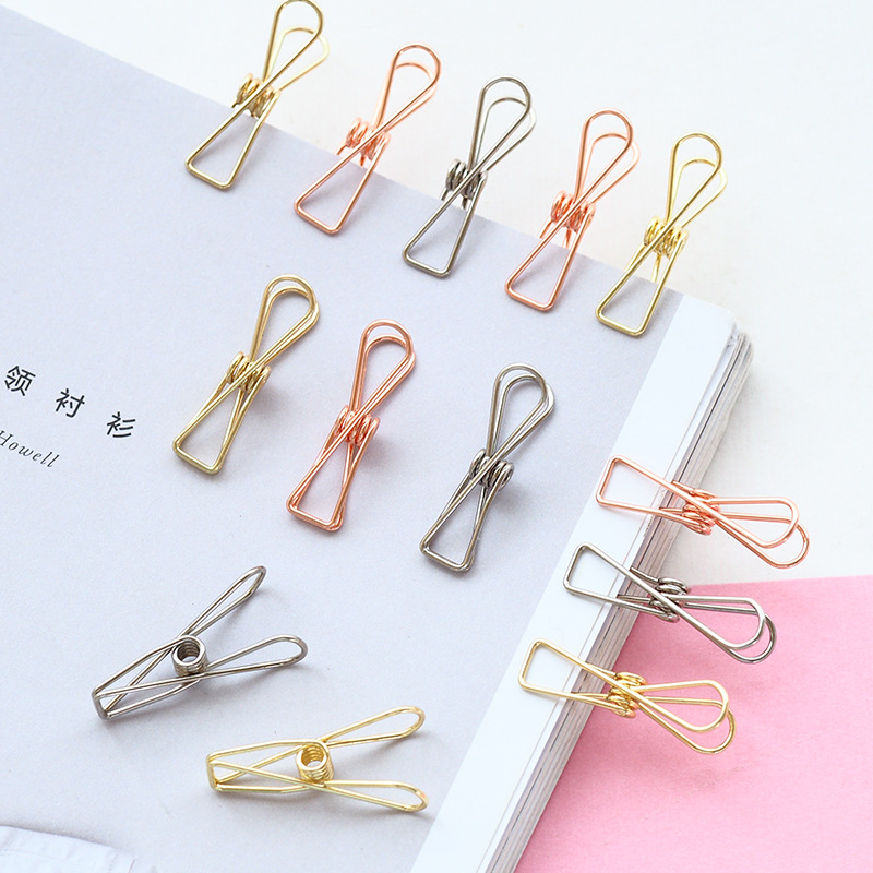 6 Pcs/lot Cute Fish Clip Hollow Out Metal Binder Clips Notes Letter Paper Clip Office Supplies FOD