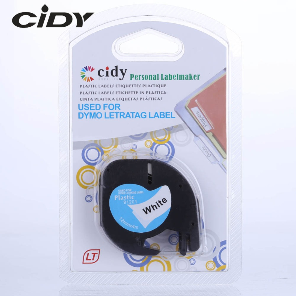 cidy-compatible-12mm-black-on-white-dymo-letratag-plastic-laminated-tape-lt-91201-91331-lt91201