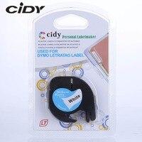 CIDY Gemischt Kompatibel 12mm Schwarz auf weiß Dymo Letratag Kunststoff Band LT 91201 91331 LT91201 LT 12267 18769 18771 für LT-100H