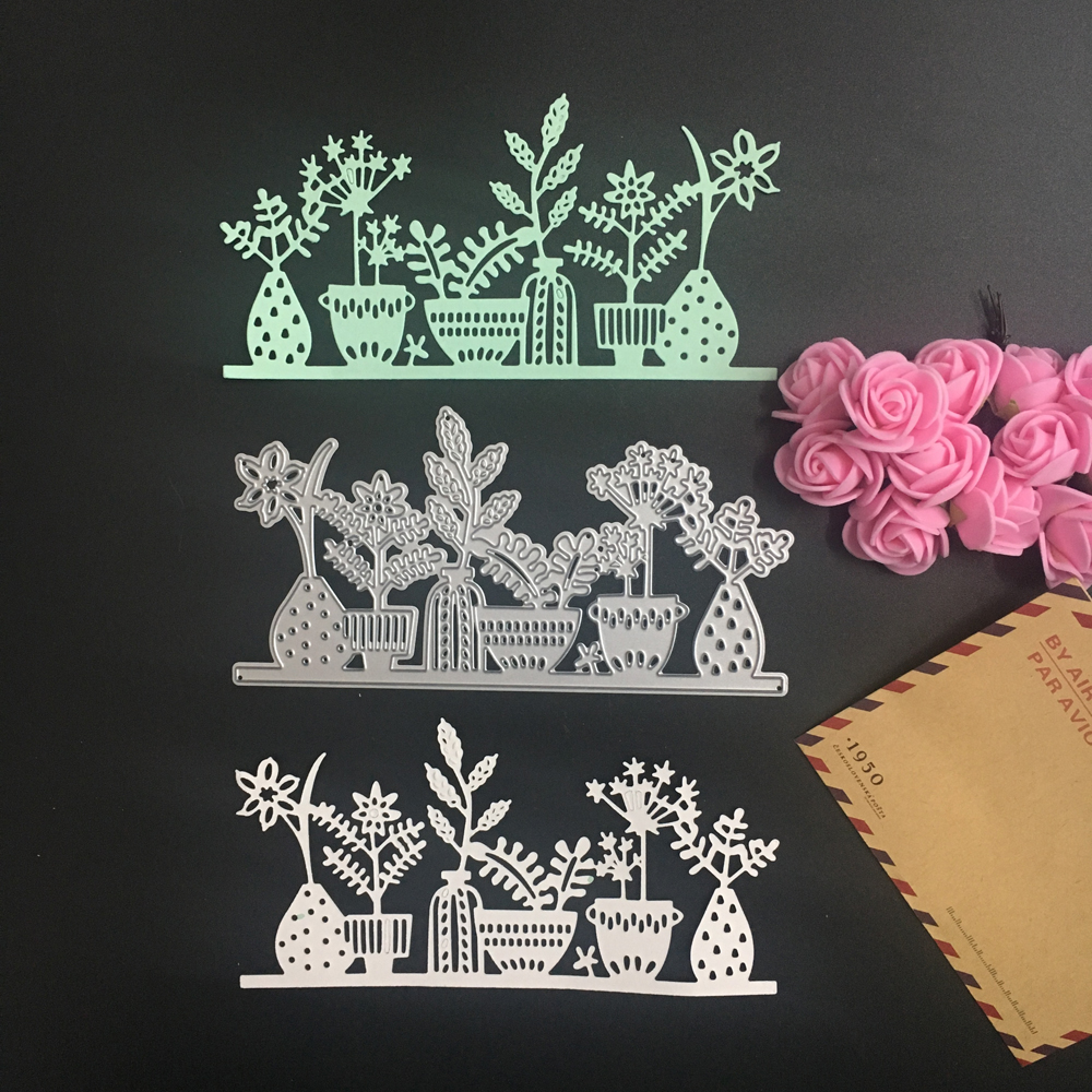 2017 New Flower Leaf Design Metal Cutting Dies Stencil for DIY Scrapbooking Paper Cards Decorative Embossing Steel Templete