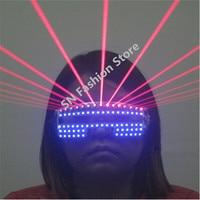 T823 Bar club bar colorful Laser light led light party glasses Laser man ballroom dance costumes singer stage glasses wears