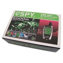 2 Way SPY Мотоцикл Сигнализация ЖК-Мотоцикл Системы Безопасности Микроволновый Датчик Дистанционного Запуска Двигателя Остановка