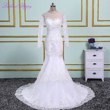 LCELAND POPPY Mermaid Wedding Dresses Long Sleeves
