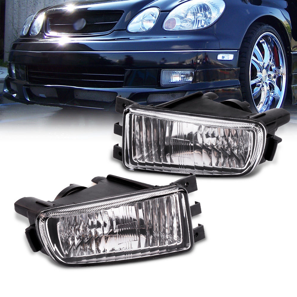 US Bumper Fog Lights Lamp Left+Right For 98-05 Lexus GS300 GS400 GS430 for lexus gs300 gs400 gs430 gs 300 400 430 led car license plate light number frame lamp high quality led lights