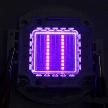 DIY Light High Power Led Chip 100W Purple Ultraviolet SMD COB Light Emitter Components Diode 100 W Ultra Violet Bulb Lamp Beads