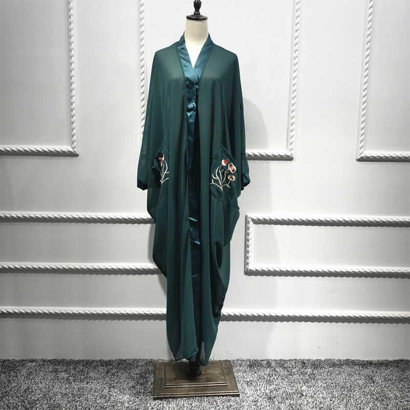 Сетчатый кафтан abaya Турция мусульманское платье исламское одежда хиджаб одежда кимоно одежда из Дубая для женщин Qatar jilбаб Рамадан Халат