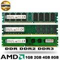 Новый Герметичный DDR DDR2 DDR3 800 1333 1600 МГц 2 ГБ 4 ГБ 8 ГБ Для Настольных ПК DIMM Память RAM совместим Только с процессором AMD