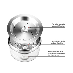 Image 4 - Için Caffitaly Tchibo Cafissimo ALDI Expressi doldurulabilir k ücreti kahve kapsül Pod filtreleri paslanmaz çelik Cafeteira sabotaj kaşık