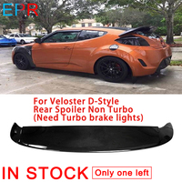 For Veloster D Style FRP Fiber Glass Rear Spoiler Non Turbo (Need Turbo brake lights) For Hyundai Fiberglas Trunk Wing Body Kit