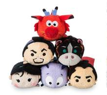 2018 Mulan MUSHU Shang Fa Zhou Khan Cri-Kee Li Shang Mini TSUM TSUM Plush Set(China)