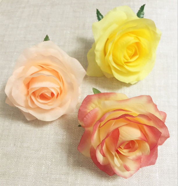 Fausses fleurs en tête de Rose 30 pièces   Têtes de fleur de camélia 8.5cm, 13 couleurs pour mariage, fête de noël, fleurs décoratives artificielles