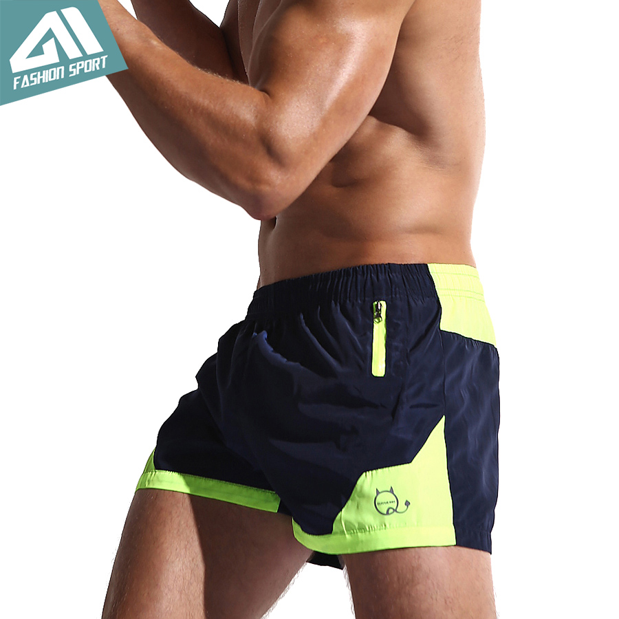 Aimpact New Fast Dry Surfing Men's Board Shorts Mesh Lining Liner Patchwork Beach Swimming Short Sport Workout Shorts Male SD002
