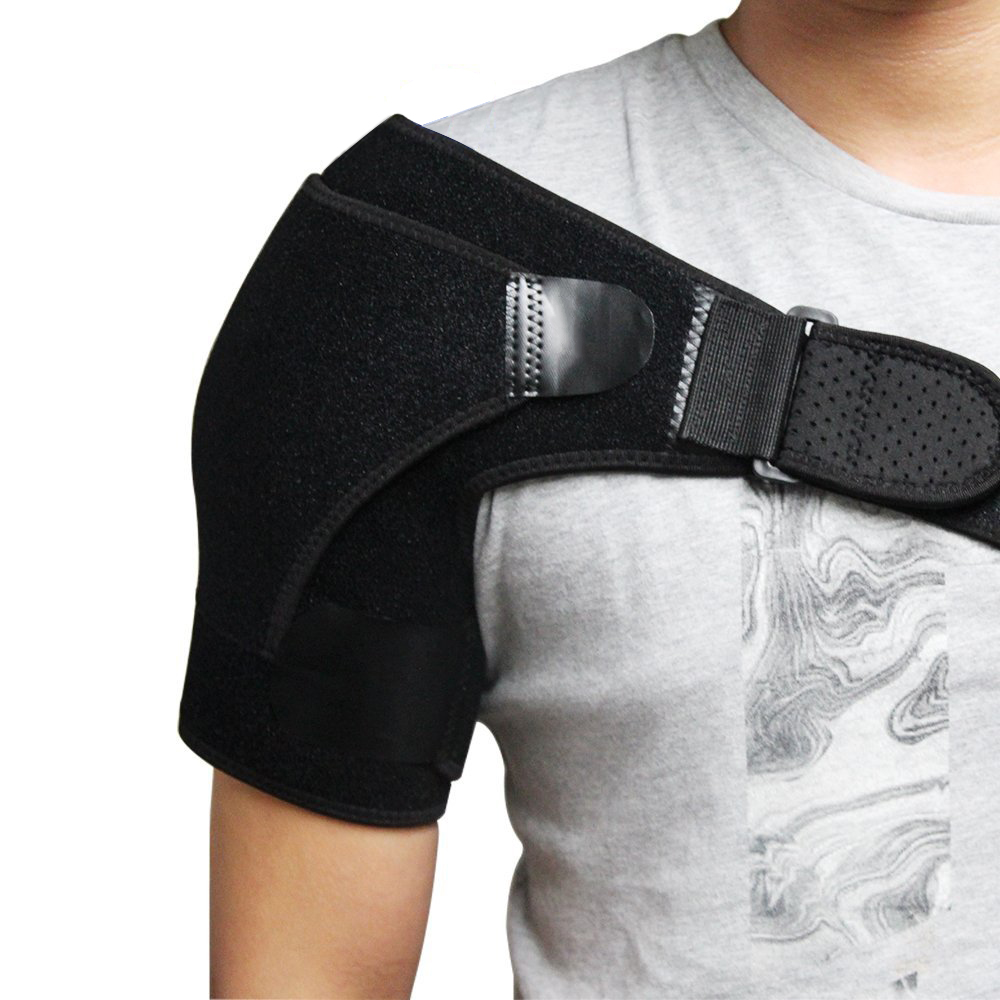 Professional Shoulder Brace with Pressure Pad for Hot Cold Therapy Ice Pack Pain Injury Shoulder Posture Corrector Strap цена 2017
