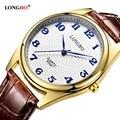 2017 longbo relógios de luxo relógio de quartzo de couro moda casual homens mulheres casal esportes relógio analógico relógio de pulso 80046
