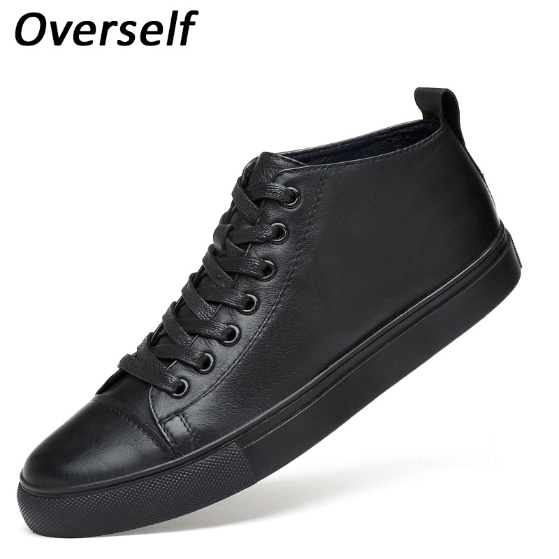 Keep Warm Men Winter Casual Shoes High Quality Big Size Genuine Leather Snow Warm Men's Boot Lace Up Plush Men high top Shoes new 28 color casual boot genuine leather flats shoes shoelace shoes boot lace shoes strap shoeslaces 500pairs lot via dhl ems
